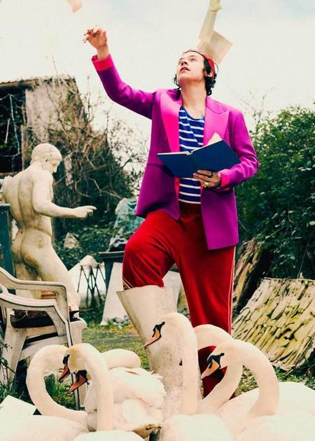Harry Styles Adopta El Optimismo Del Color En La Nueva Campana De Gucci Tailoring 03