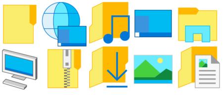 Estos son los iconos minimalistas que incluye la última build de Windows 10