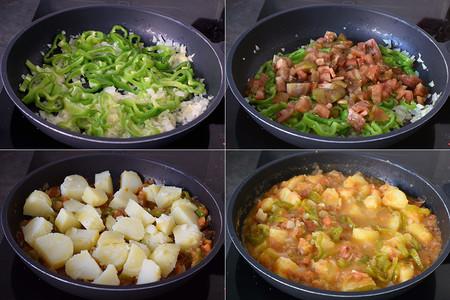 Tomates con patatas