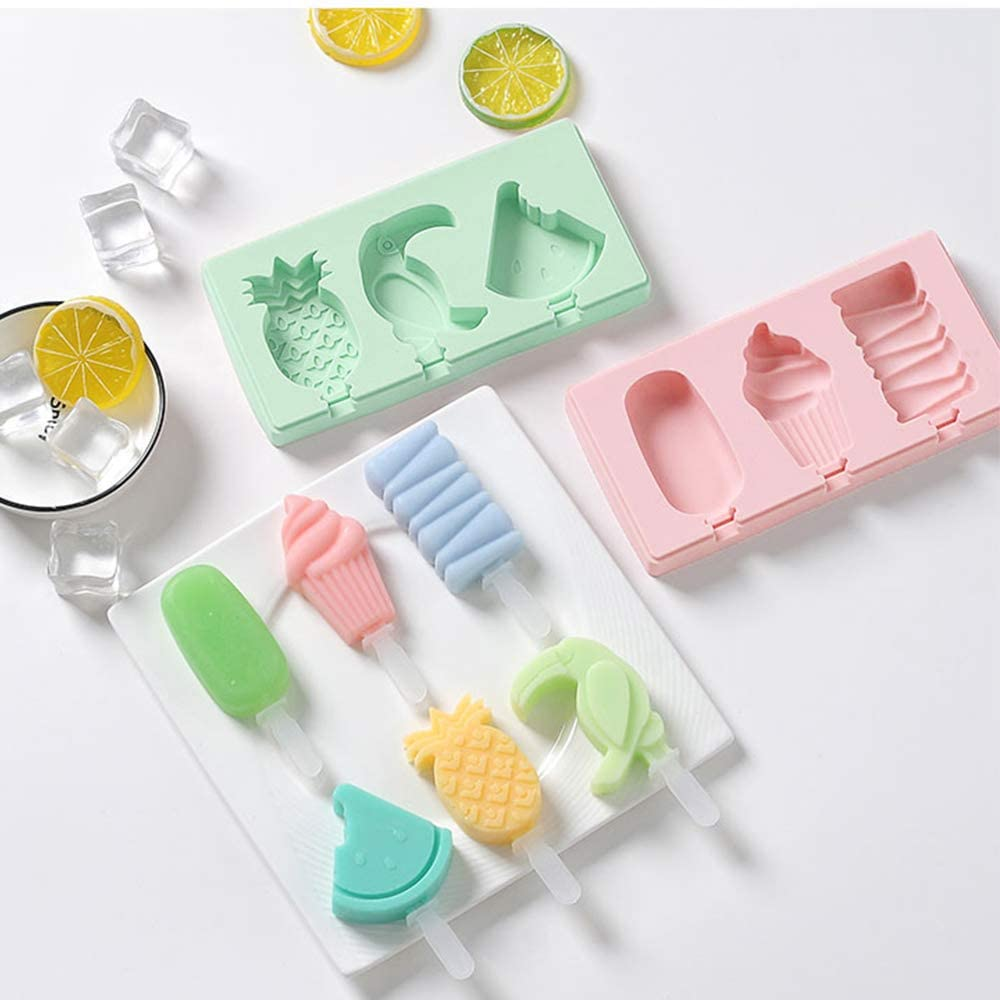 Moldes de silicona con divertidas formas reutilizables