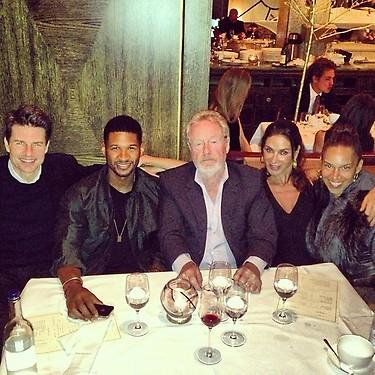 Tom Cruise, Usher y las implicaciones apocalípticas de esta foto