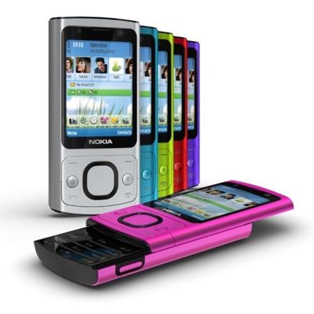 Nokia 6700 slide se muestra bien colorido