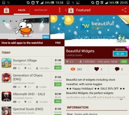 AppSales te ayudará a buscar las ofertas en aplicaciones Android