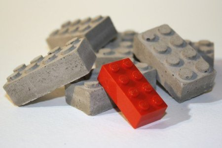 Piezas Lego de concreto
