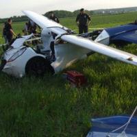 Así queda un coche volador cuando algo falla