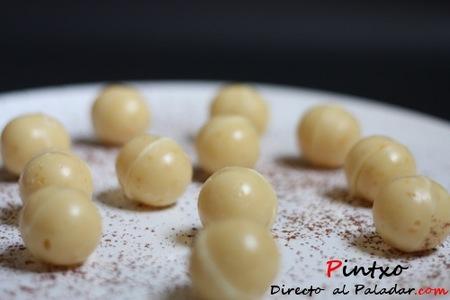 Bombones de chocolate blanco y limón. Receta