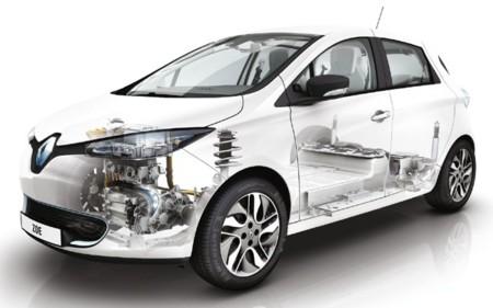 Renault ZOE imagen técnica transparente