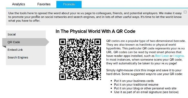 Generar código QR de re.vu