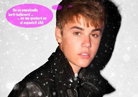 En vez de poner a Justin en órbita, mejor que lo lancen con velocidad de escape