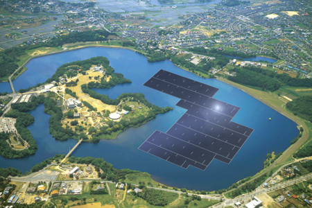 La planta solar flotante más grande del mundo está en construcción en Japón, alimentará a 5.000 hogares