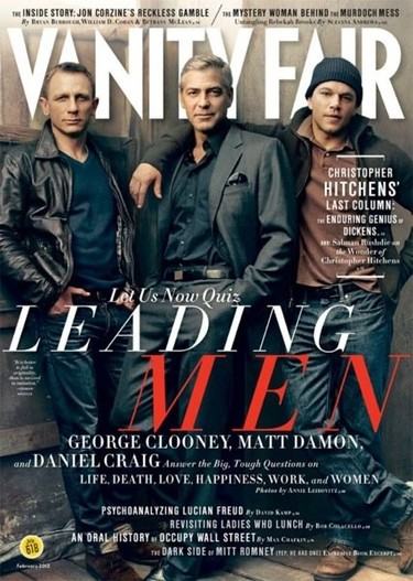 George Clooney, Daniel Graig y Matt Damon para Vanity Fair, ¡portadón de quesitos!