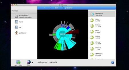 DiskScanner, un escáner de disco duro gratuito para OS X que resolverá el misterio de tu espacio menguante