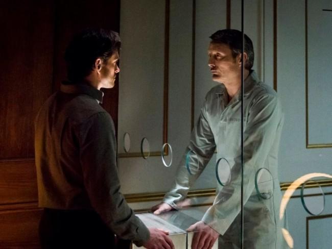Hugh Dancy y Mads Mikkelsen en la serie Hannibal