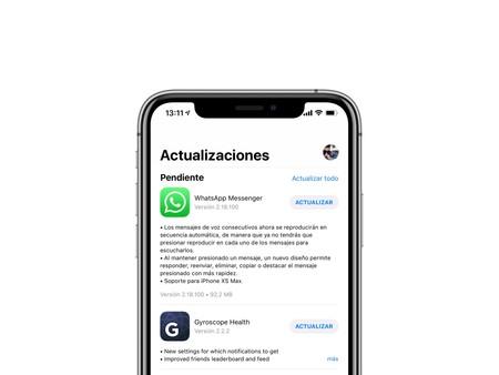 WhatsApp se actualiza con soporte para iPhone XS Max, mejoras en mensajes de voz, un futuro modo oscuro y más