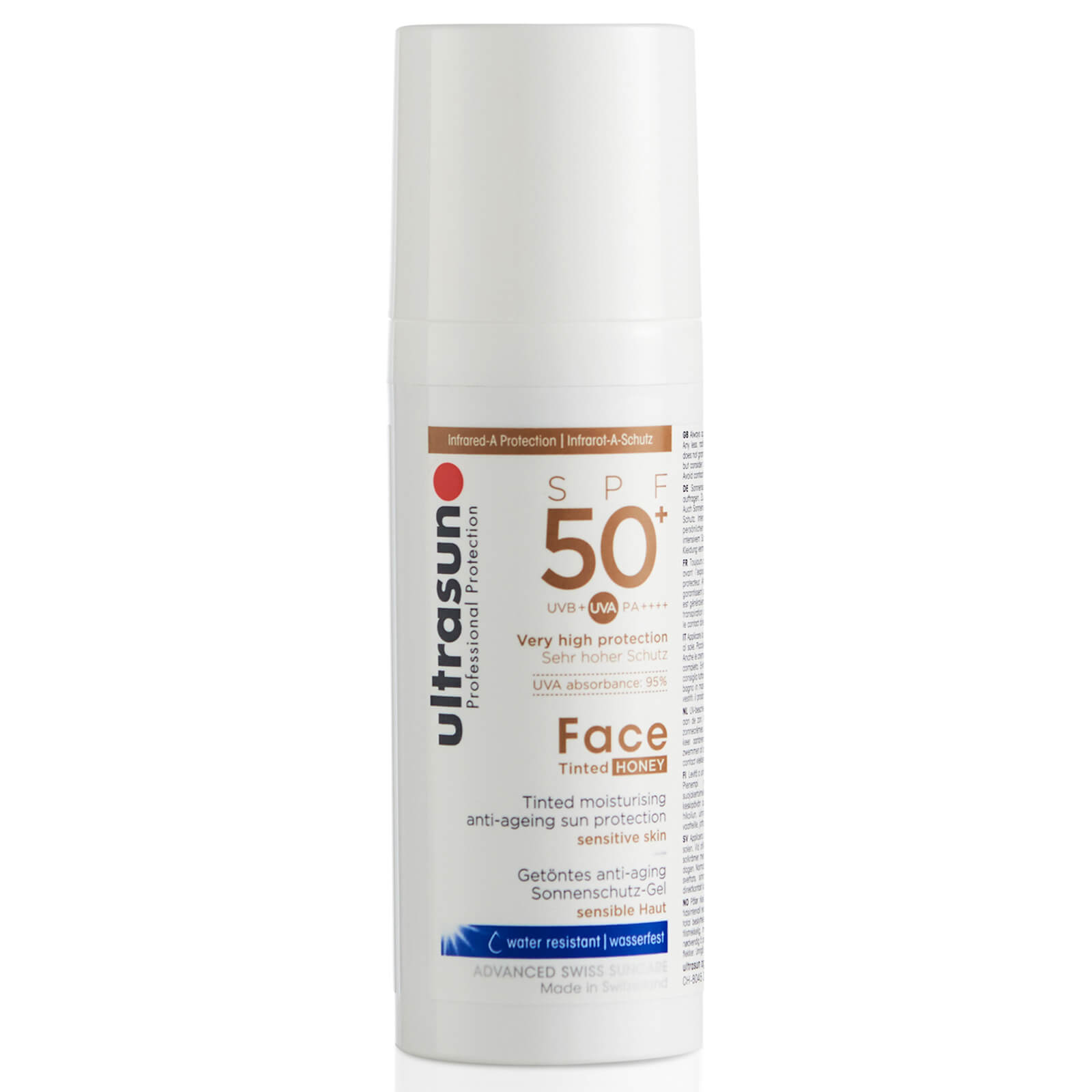 Crema facial 50+ con color de Ultrasun