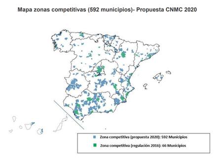 Listado De Municipios Incluidos Como Zonas Competitivas De Fibra