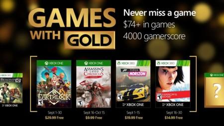 El Games with Gold de septiembre viene con juegazos como Mirror's Edge o Forza Horizon