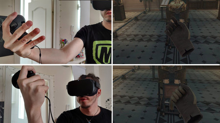 Agarre VR