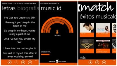 Encuentra las letras de tus canciones con Musixmatch Lyrics para Windows Phone