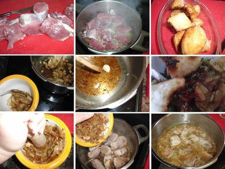 Receta de solomillo de cerdo en salsa de azafrán