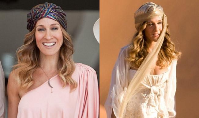 Carrie Bradshaw con turbante