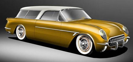 Superior '54 Sport Wagon, resucitando al Chevrolet Corvette Nomad
