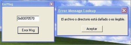 ErrMsg, ayuda para solucionar los errores de Windows