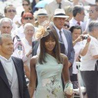 El look de Naomi Campbell en la boda real de Alberto de Mónaco y Charlene Wittstock
