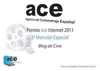 Premios de la Agencia del Cortometraje Español 2011: Blogdecine galardonado