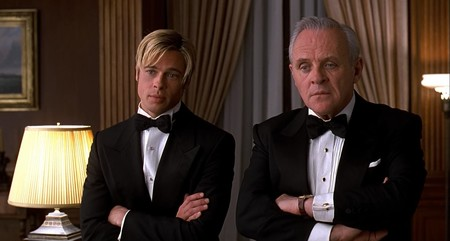 Brad Pitt y Anthony Hopkins en ¿Conoces A Joe Black?