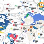 Las marcas y empresas más odiadas en cada país del mundo, reunidas en un mapa