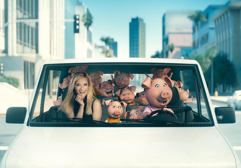 Foto de '¡Canta!' ('Sing'), imágenes de los actores junto a sus personajes (3/7)