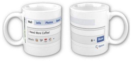 Taza de FaceBook: 'I Need More Coffee!'
