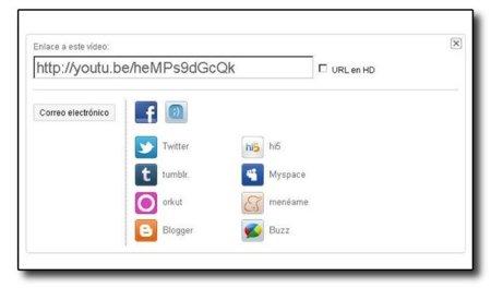 YouTube ofrece URL cortas