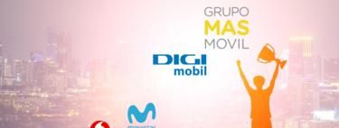 MásMóvil y Digi arrasan, Vodafone respira, Movistar se contrae y Orange en mínimos: así fue la evolución de líneas en 2019