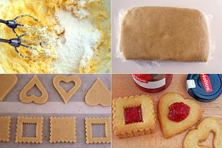 Receta de galletas con mermelada. Pasos