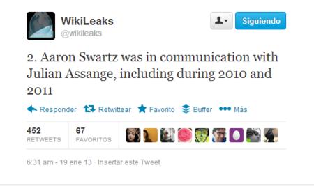 Wikileaks apunta a Aaron Swartz, como fuente propia.2