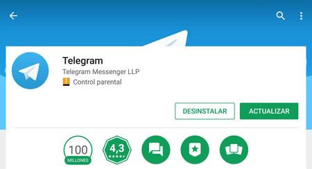 Cómo actualizar Telegram para Android