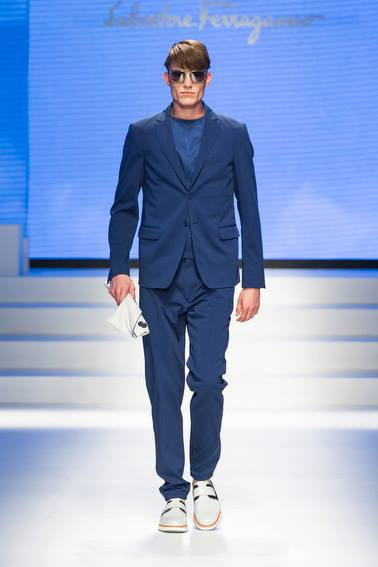 Blue Suit Salvatore Ferragamo SS 2014