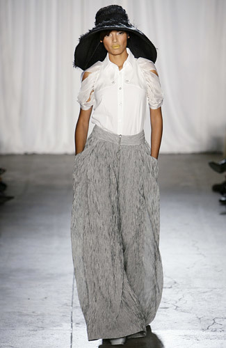 Christian Siriano en la Semana de la Moda de Nueva York primavera-verano 2009