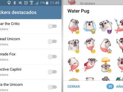 Telegram 3.11, con stickers destacados, chats contigo mismo y otras mejoras