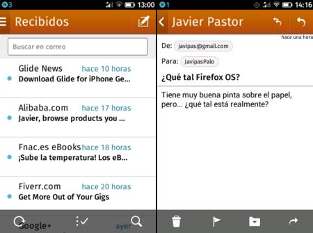 Firefox OS - Correo