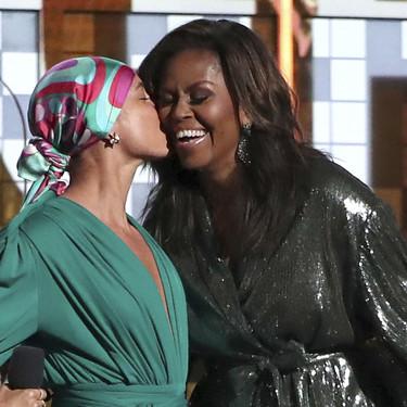 Grammys 2019: Michelle Obama y su dos piezas de lentejuelas ponen en pie al público