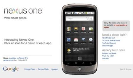 Google fracasa en su iniciativa y no venderá más Nexus One en su tienda web