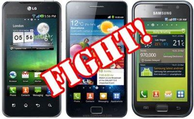 Duelo en la cumbre de Android: Samsung Galaxy S2 vs. LG Optimus 2X vs. Samsung Galaxy S Plus (en vídeo)