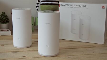 Hasta 600 m2 de cobertura con el pack de tres routers Wi-Fi mesh AC2200 de Huawei por 159 euros en Amazon, su mínimo histórico