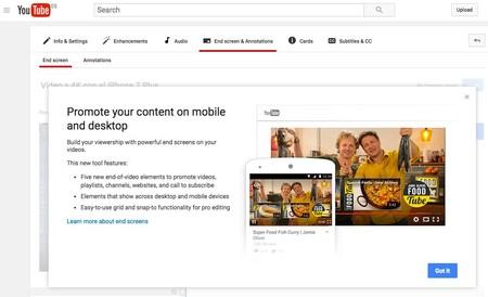 Haz crecer tu canal en YouTube con las nuevas pantallas finales de vídeo