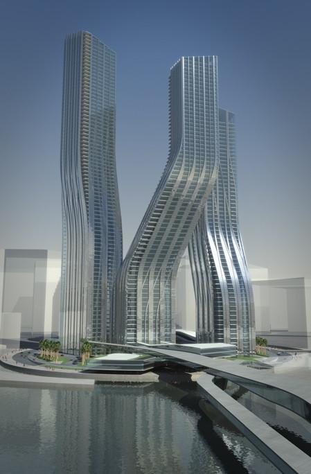Dancing Towers, la arquitectura danzante de Zaha Hadid en Dubai