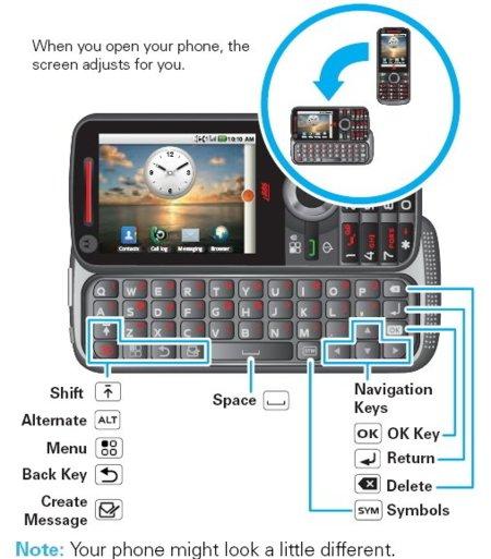 Motorola i886 con Android y dos teclados