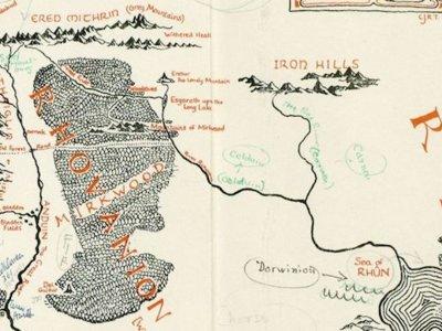 Se han descubierto unas anotaciones de Tolkien con los lugares que inspiraron la Tierra Media